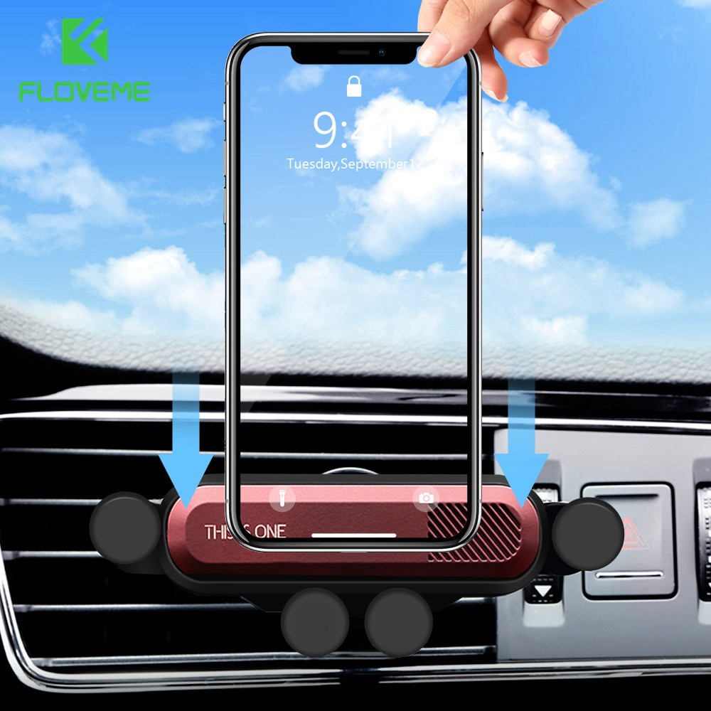 FLOVEME Universal Gravity Linkage Car Phone Holder For IPhone 11 2019 Car Air Vent Mount Stand For Cell Phone Support Car Holder