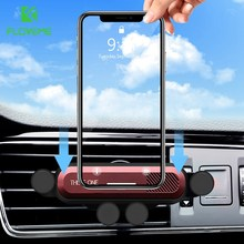 FLOVEME Universal Gravity Linkage Car Phone Holder For iPhone 11 2019 Air Vent Mount Stand Cell Support