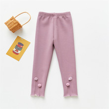 Clothing Leggings Girls Cottong Winter And Autumn for Plus Velvet Thick Fashion Small