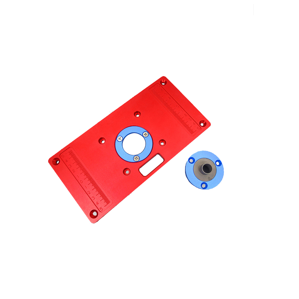 New Aluminum Alloy Router Table Insert Plate With Ring For Wooden Benches RT0700C