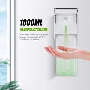 Image 2 - ABS plastic 1000ml liquid soap dispenser hospital hotel kitchen wall mounted elbow hand sanitizer hygienic Drip /spray version