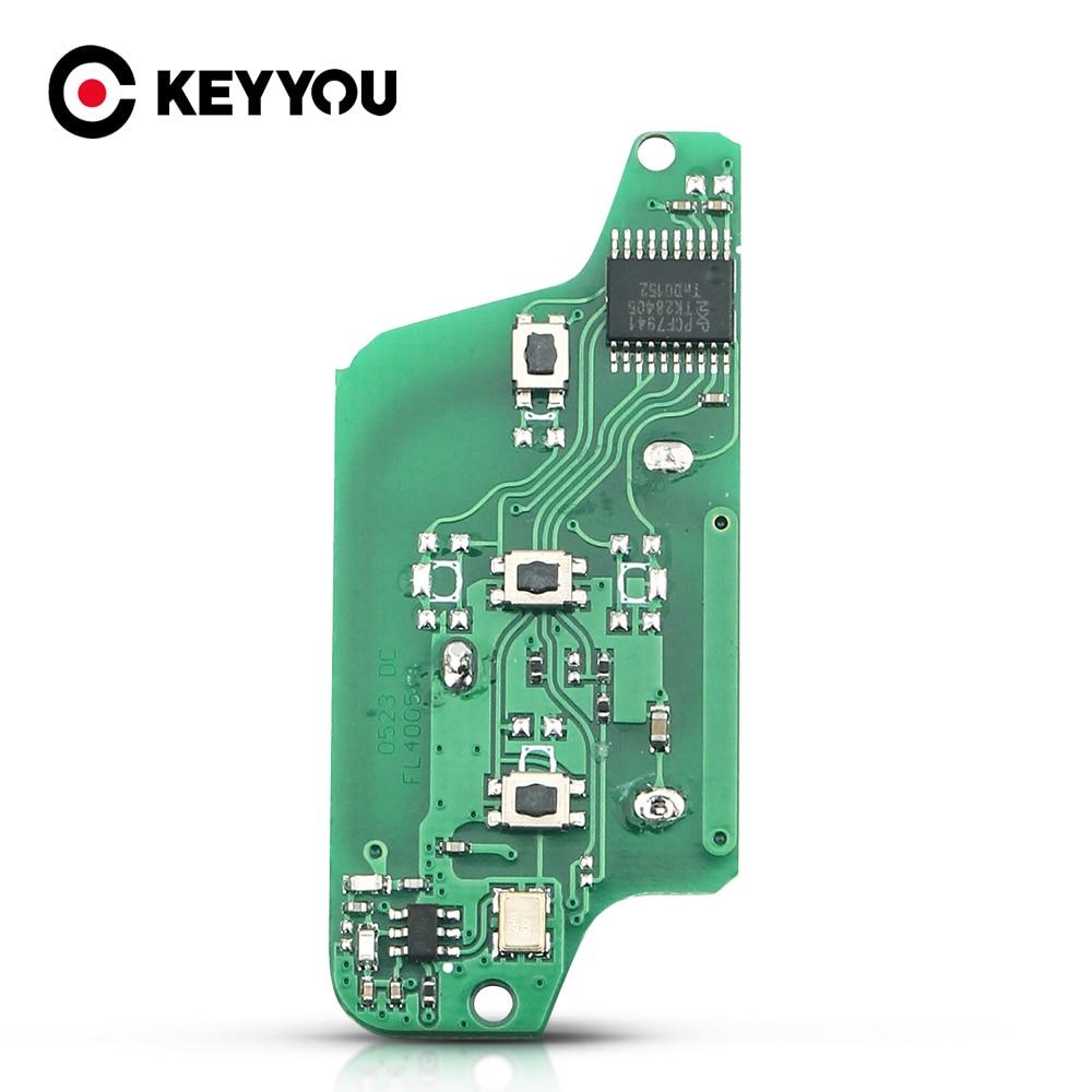 KEYYOU для Peugeot 407 407 307 308 607 для Citroen C2 C3 C4 C5 PICASSO Автомобильный ключ электронная печатная плата CE0523 ASK 3 кнопки