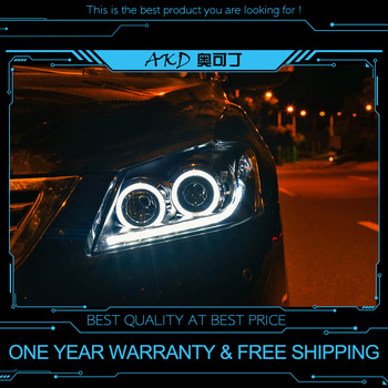 AKD tuning cars Headlight For Toyota Camry 2009-2011 Headlights LED DRL Running lights Bi-Xenon Beam Fog lights angel eyes Auto