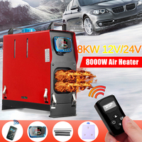 All In One Air diesels Heater 1KW 8KW Adjustable 12V One Hole Car Heater For Trucks Motor Homes Boats Bus +LCD key Switch+Remote