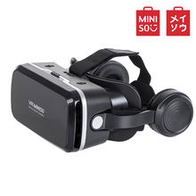 Miniso 3D VR Glasses Virtual Reality Glasses Leather VR Headset for Mobile Phone Smartp Portable Video(China)