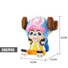 hot LegoINGlys creators Comic Animation One Piece pirate Tony Tony Chopper figures mini micro diamond building blocks model toys цена