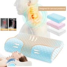 Urijk Ортопедическая подушка с эффектом памяти, Массажная подушка для сна, для облегчения боли в шее, шейные бамбуковые подушки для кровати, Прямая поставка