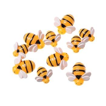 5 sztuk Mini żywica sztuczne pszczoły symulowane zwierzęta szlamowe wisiorki glina DIY ozdoba do włosów dzieci zabawki obudowa na telefon akcesoria