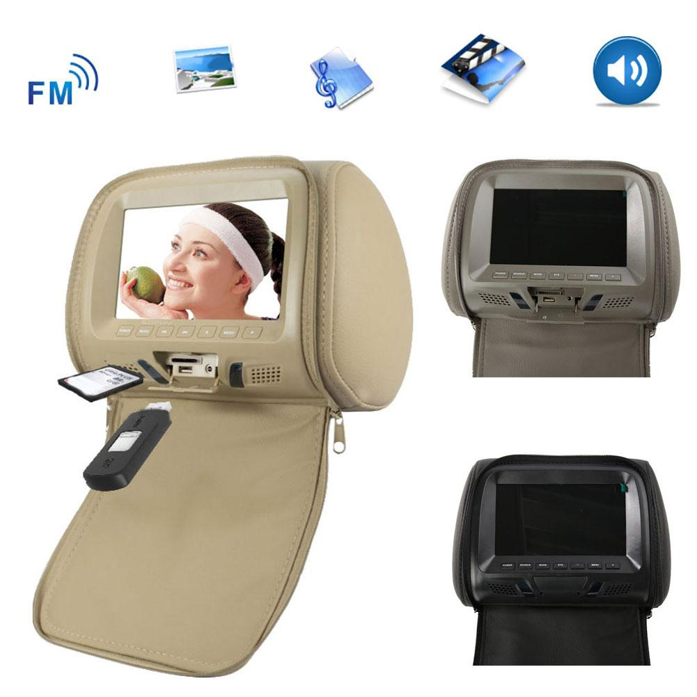 Universal 7 Inch Car Headrest Monitor Rear Seat Entertainment Multimedia Player Rear Seat Entertainment Multimedia Player Rear S
