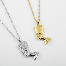 Vintage Mystery Egyptian Pharaoh Gold / Silver Color Metal Pendant Necklaces For Men/Women Jewelry Gift
