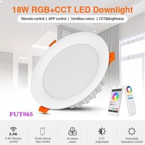 Image 2 - 18W RGB + CCT HA CONDOTTO LA luce Da Incasso dimmerabile intelligente vita Interna camera luce AC 220V può del telefono Mobile/2.4G remote/wifi/controllo vocale