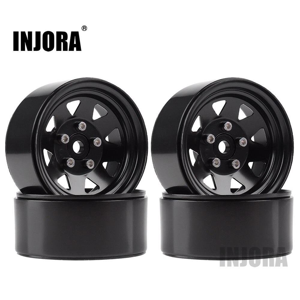 INJORA Metal Alloy 1.9 Beadlock Wheel Rims 3 Style For 1:10 RC Crawler Axial SCX10 AX103007 D90 Traxxas TRX4 Redcat GEN8