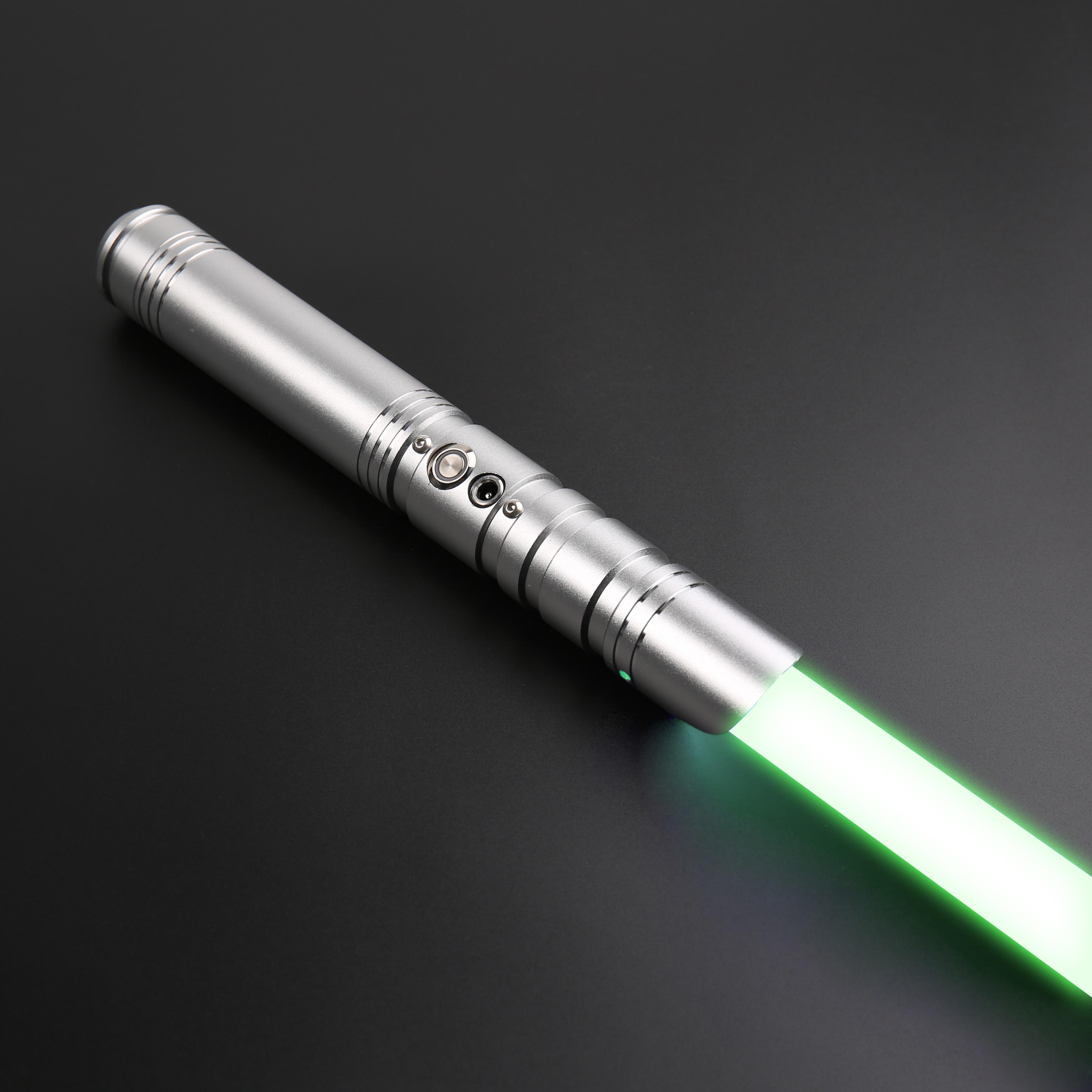 SabeFeast Dueling Lightsaber Laser RGB 12 Colors Star Skywalker Metal Hilt FOC Blaster Cosplay Children's Toys-TS025