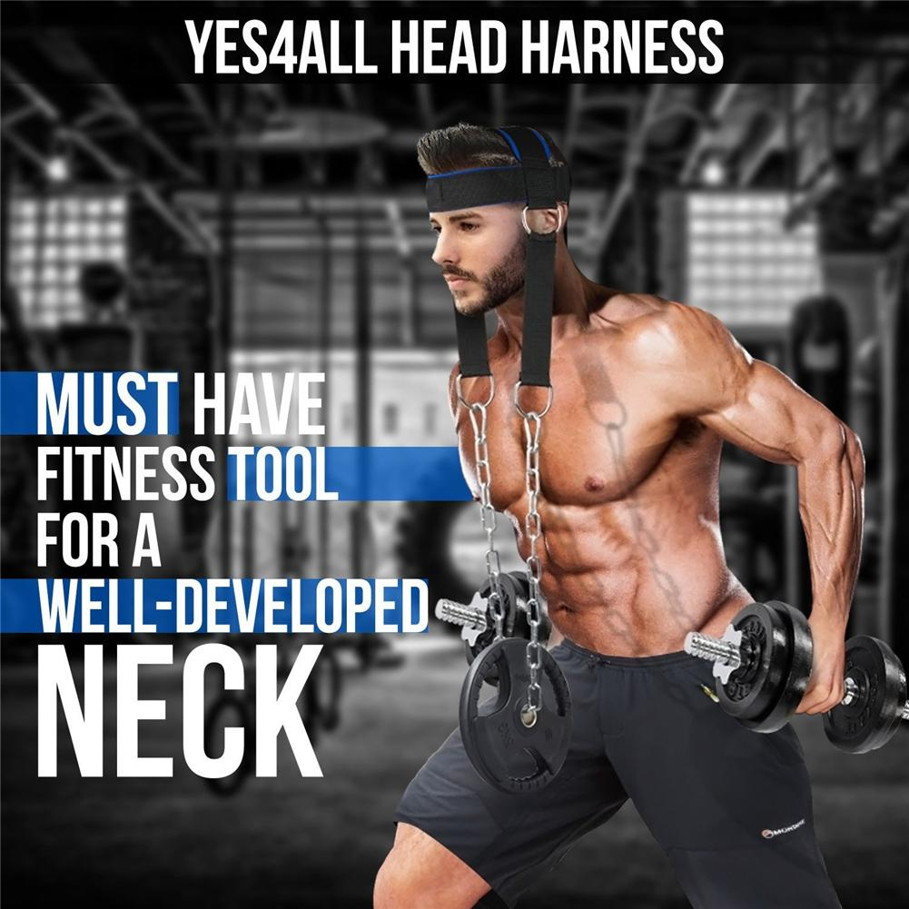 Head Neck Trainer Weight Lifting Belt Straps Strength Exercise Fitness Body Building Adjustable Head Training Belt for athletes