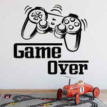 Game Over Wall Decal Playroom Teens Room wall sticker vinyl  kids room removable art mural JH366
