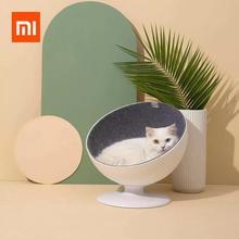 Xiaomi Rotating Cat Nest Cat Boss Rotating Interactive Fiber Lining Simple Pet Bed Small Cats Nest Winter Warm Sleeping Mat Pet