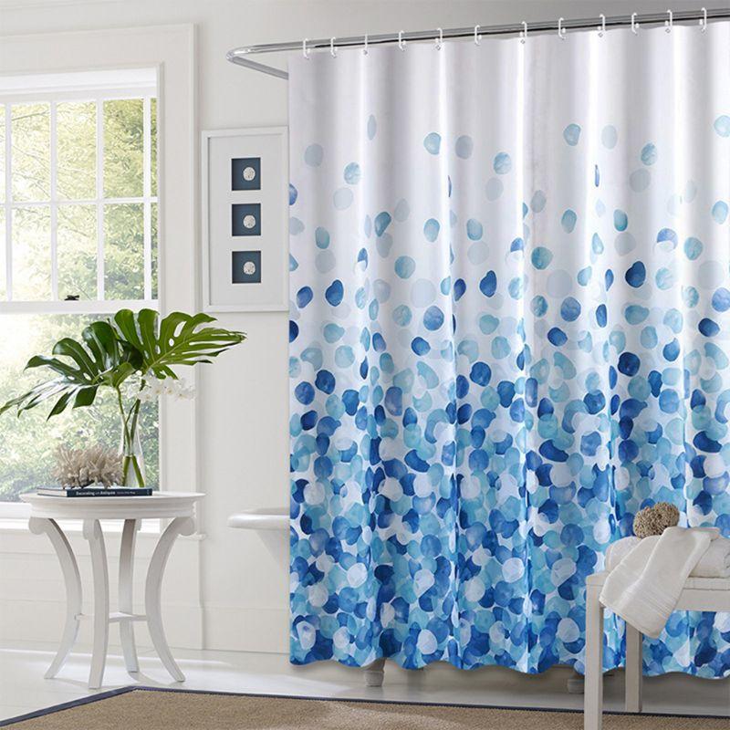 European Style Shower Curtain Bathroom Fall Curtains Waterproof Cloth for Shower Room Bath Use-2
