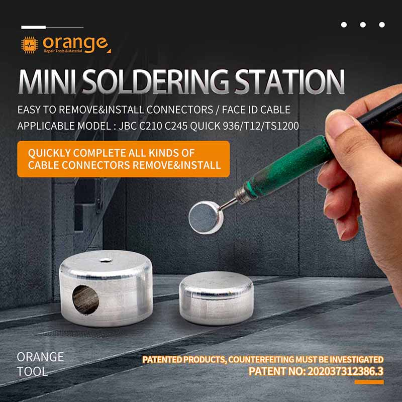Mini Small Ironing Table Desoldering Easy To Remove&install Connectors Face Id Cable For Jbc 210 245/ Quick 936/t12/ts1200 Model