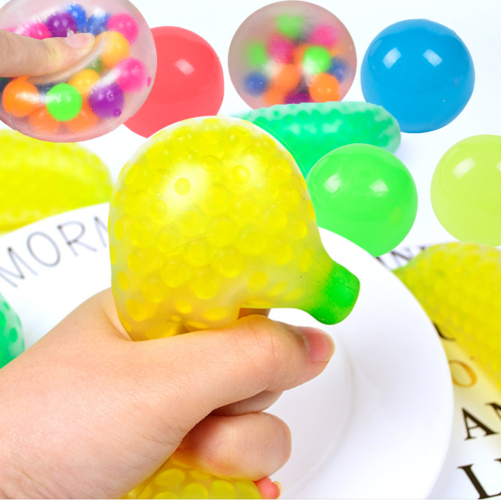 Toys Strawberry Decompression-Ball-Toys Banana Squeezing Sticky Adults Children Fruit img4