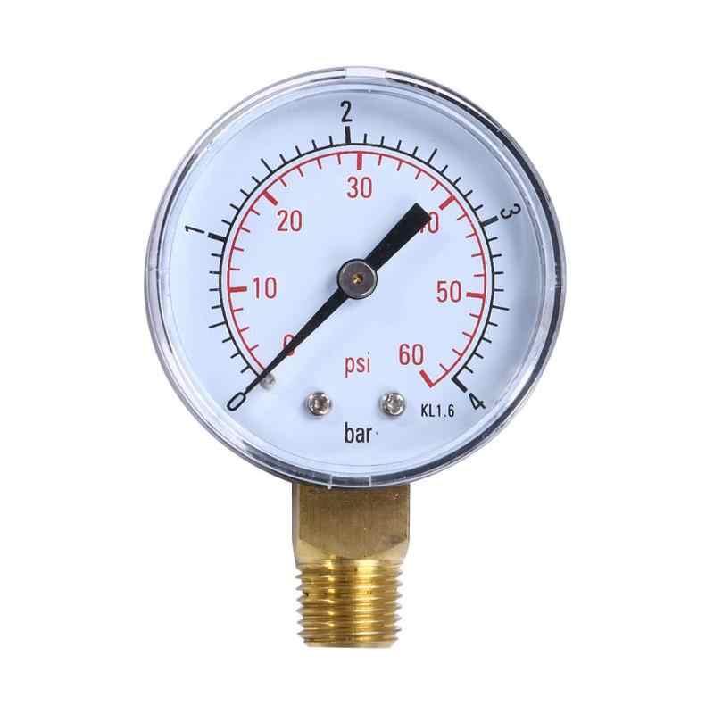 """1 قطعة بركة سبا فلتر مقياس ضغط الماء 60PSI الجانب جبل 1/4 """"بوصة الأنابيب موضوع المنزل الملحقات أداة أداة قياس"""