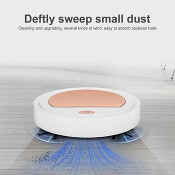 Mini Robot Vacuum Cleaner USB Rechargeable Household Wireless Vacum Cleaner Robot Automatic Mopping Sweeping Dust for Home Room electric wireless sweep robot automatic multi directional round smart sweeping robot vacuum cleaner for home usb charge