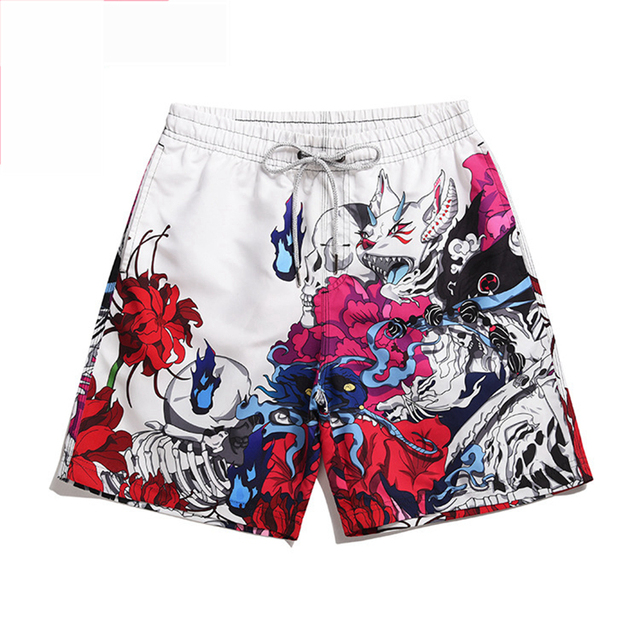 2021 Man Floral Printing Men Shorts Beach Short Breathable Quick Dry Loose Casual Style Printing Shorts Male Home Shorts