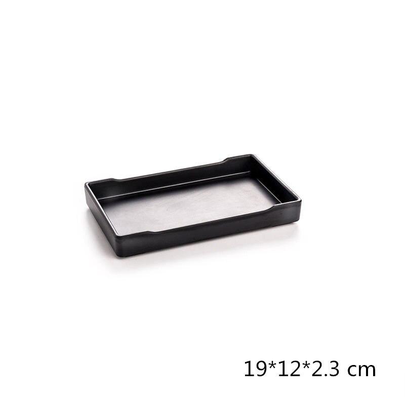 Горячая Распродажа Черная тарелка из меламина в японском стиле для суши, мяса, говядины, стейка, приправ, горячий горшок, для магазина, буфета, барбекю, для кухни, 1 шт.-2