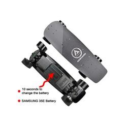 29 Aeboard AX Mini Airless a nido d'ape ruote Rimovibile Rapido Cassa di Batteria Elettrica di skateboard 10S2P Samsung 35E batteria DHL