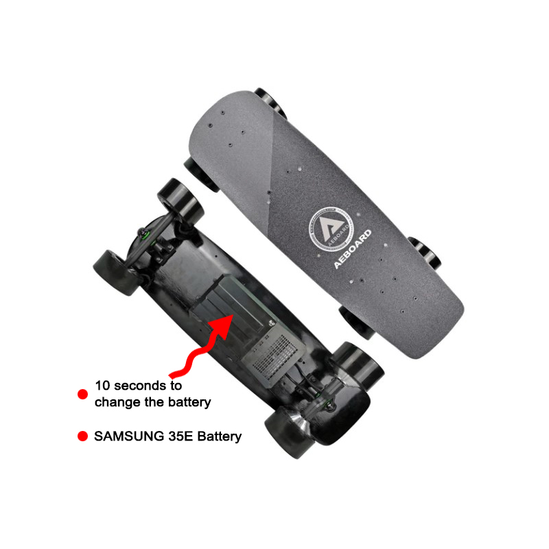 """29"""" Aeboard AX Mini  Airless Honeycomb Wheels Quick Removable Battery Case Electric Skateboard 10S2P Samsung 35E Battery DHL"""