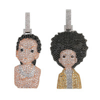 Iced Out The Boondocks Pendant Necklace For Men Women Gifts 2 Styles AAA Micro Paved Bling Hip Hop Jewelry