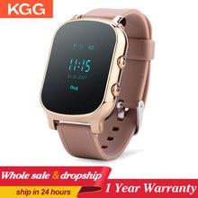 KGG GPS 와이파이 추적기 스마트 워치 개인 로케이터 T58 GSM 추적 sim 카드 smartwatch IOS 안 드 로이드 전화에 대 한 어린이 시계