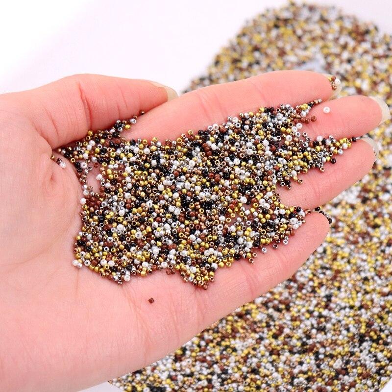 1680 pçs/saco 15/0 preciosa checa contas de semente de vidro metálico 1.5mm uniforme creme redondo espaçador grânulo para diy jóias fazendo acessório