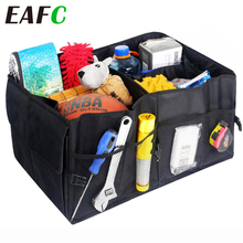 EAFC Car Trunk Organizer Eco-Friendly Super Strong & Durable Collapsible Cargo Storage Box For Auto Trucks SUV Trunk Box