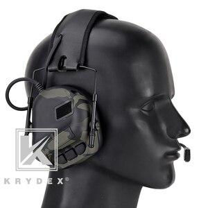 Image 5 - Casque tactique KRYDEX avec Micphone Peltor réduction du bruit détachable prise de son Communication casque électronique MCBK