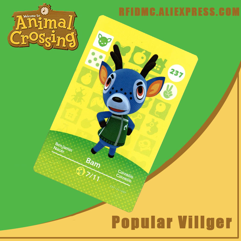 237 Bam Animal Crossing Card Amiibo For New Horizons