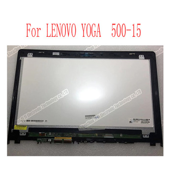 Free shipping 15.6 inch FHD Matrix For Lenovo Yoga 500 15 500-15ISK LCD Touch Screen Digitizer+Bezel Assembly Display flex 3 15