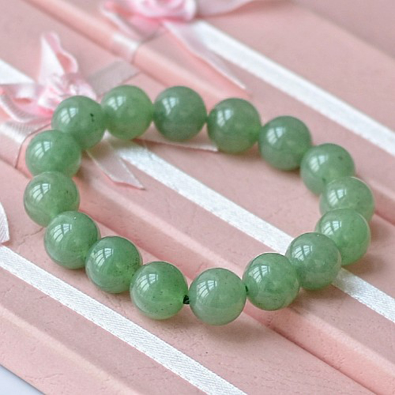 MOROW 100% Natural Green Aventurine Round Bead Stone Bracelet Jewelry Simple Women`s Men Bracelets Fashion Classic Accessory New (7)