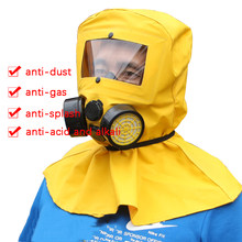 Respirator Acid/Alkali-Resistant Experimental Sandblasting Protective Hood Dust/Poison-Proof Chemical Activated Carbon Filters