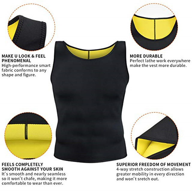 CXZD Slimming Belt Belly Men Slimming Vest Body Shaper Abdomen Fat Burning Shaperwear Waist Sweat Corset Weight Dropship 4