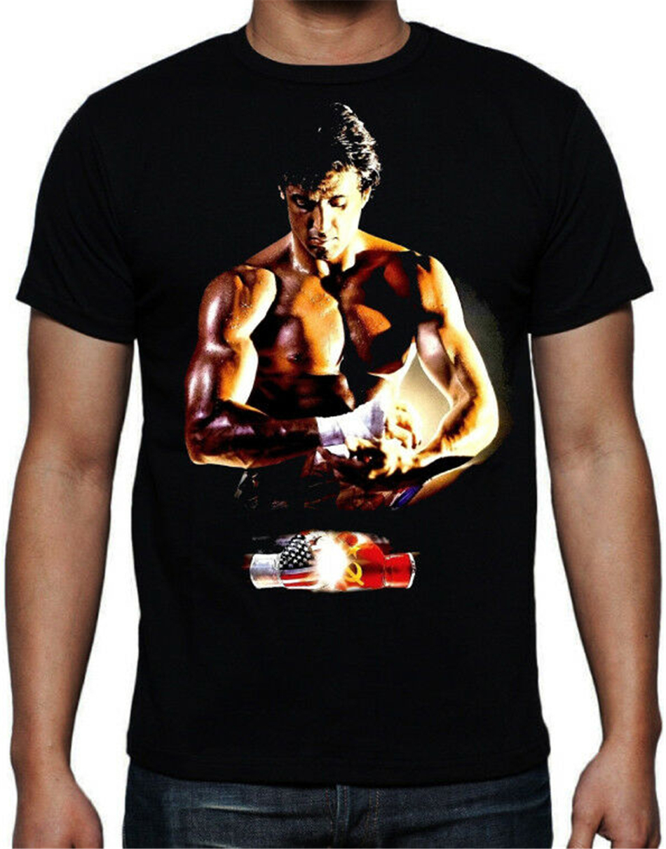 Rocky 4 Boxing Movie USA Russia Fight Gloves Training 80's Action Movie T Shirt Custom Print Tee Shirt image