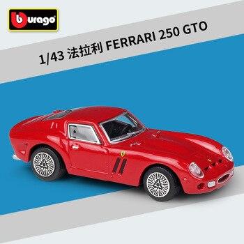 Bburago 1: 43 Ferrari 250 GTO Rad  alloy car model Collection Gift Decoration toy 1 piece high quality heidelberg gto spare parts gto support