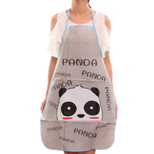 Hot Cartoon animal PVC Waterproof Apron Kitchen Restaurant Cooking Bib Aprons