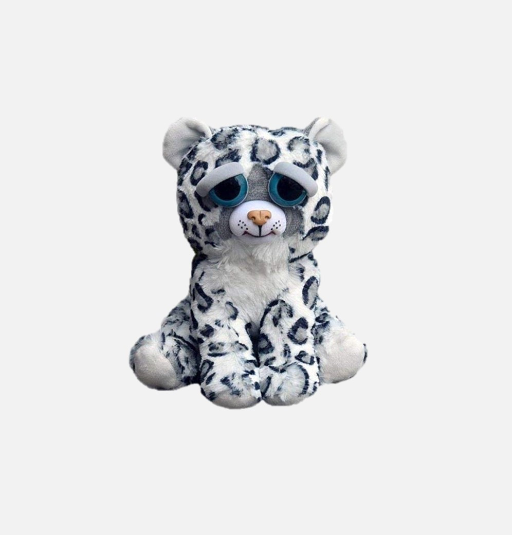 2020 New Feisty Pets Toys Stuffed Plush Angry Animal Doll Gifts Snow Leopard for Kids Children image