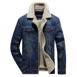 Image 3 - Winter Men Denim Jacket Mens Casual 2020 Man Slim Fit Denim Jackets Coat Outwear Fleece Male Wool Liner Warm Jeans Cowboy Jacket