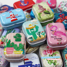 32pc(1 box)/lot Cartoon cute Mini cover Iron tin metal case