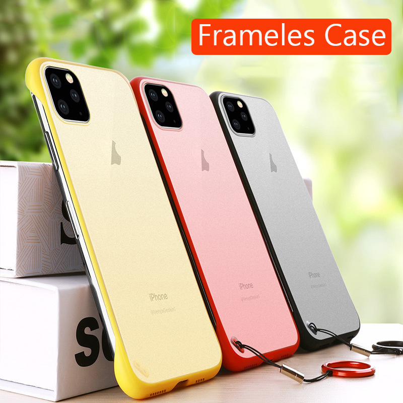 Frameless Slim Matte Hard Back Cases for iPhone 11/11 Pro/11 Pro Max
