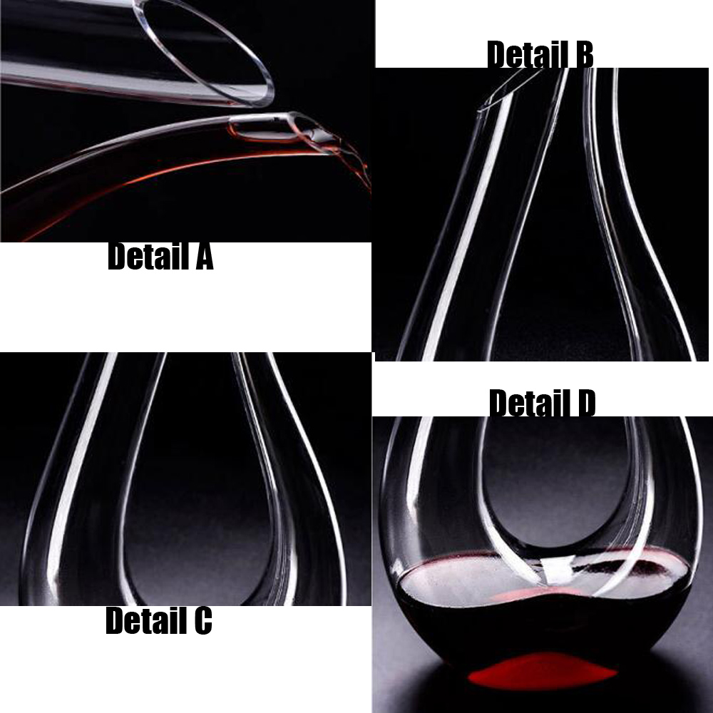 1 5L Swan Classic Wine Decanter Para Vinho Handmade Crystal Red Wine Pourer Vivid Champagne Carafe Kitchen Dining Bar Decanter in Wine Glasses from Home Garden