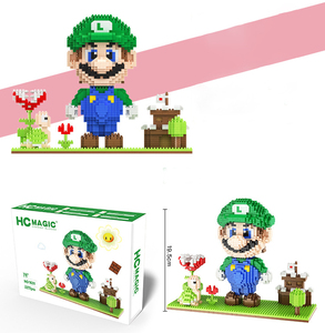 Image 2 - HC MAGIC 1030 Diamond Mini Character Anime Action Figures University Building Blocks Children Gifts Toy Birthday Assembly Bricks