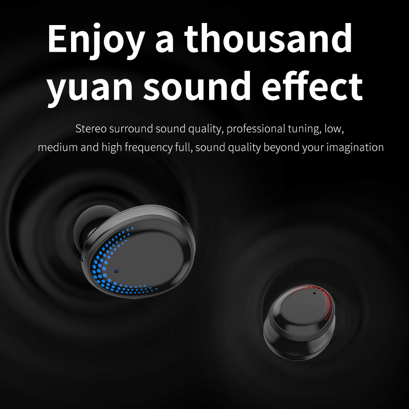 lowest price Bluetooth 5 0 Earphones 3000mAh Charging Box TWS Wireless Headphone 9D Stereo Sports Waterproof Earbuds Headsets With Microphone