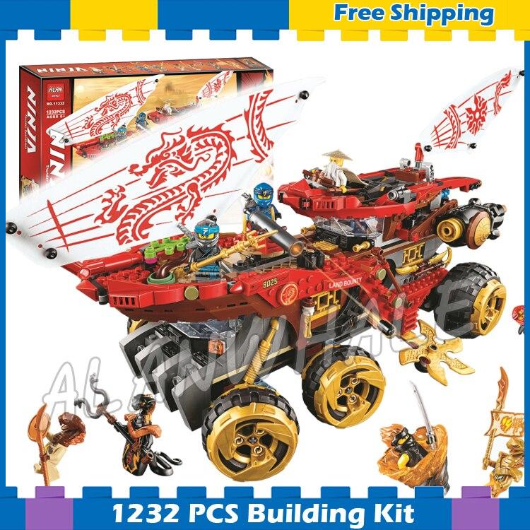 1232pcs Ninja Land Bounty 11332 Figure Building Blocks Children Toy Compatible With